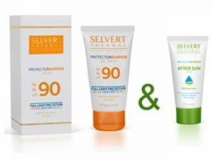 Selvert Thermal Ultra magas fényvédő faktorú arckrém SPF 90